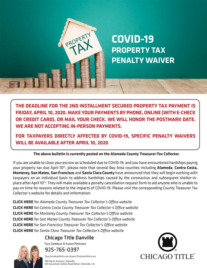 Covid-19 Property Tax Penalty