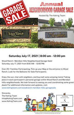 Wood Ranch / Meridian Hills Danville Neighborhood Garage Sale