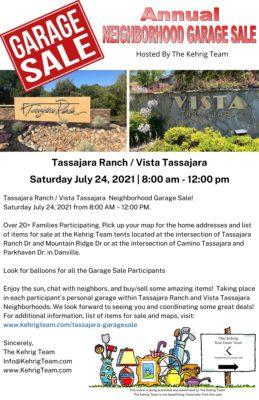 Tassajara Ranch - Vista Tassajara Danville CA Garage Sale